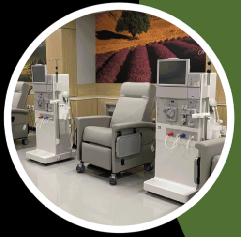 Dialysis facilities and equipment at Morningside.